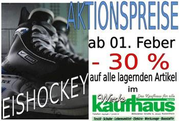 Werkskaufhaus Aktion Eishockey Artikel